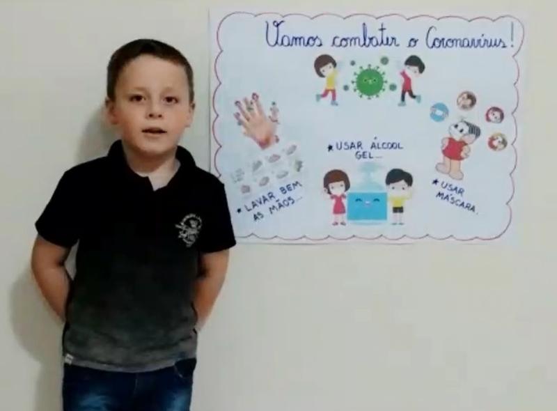 SAGRADO EM CASA: Infantil IV.2 dá dicas para a prevenção da Covid-19