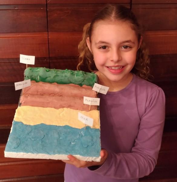 #SagradoEmCasa - Educandos criam maquete de massinha para representar o Relevo