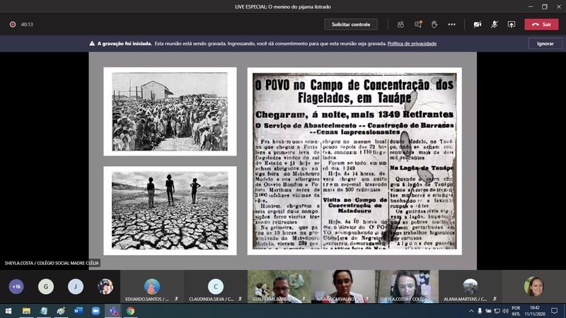 Bate-papo de História e Português