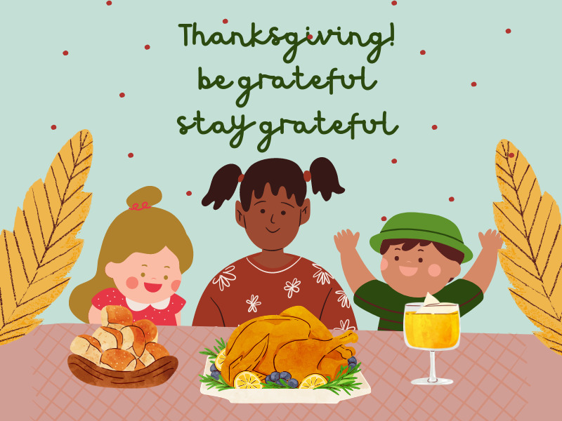 Thanksgiving – Sharing a meal together