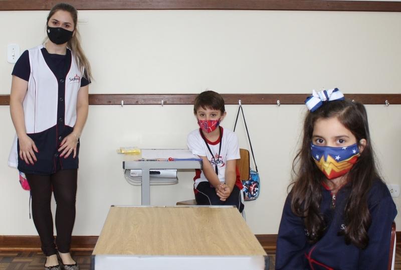 Educação Infantil V, 1ºs e 2ºs anos retornam às atividades diferenciadas presenciais
