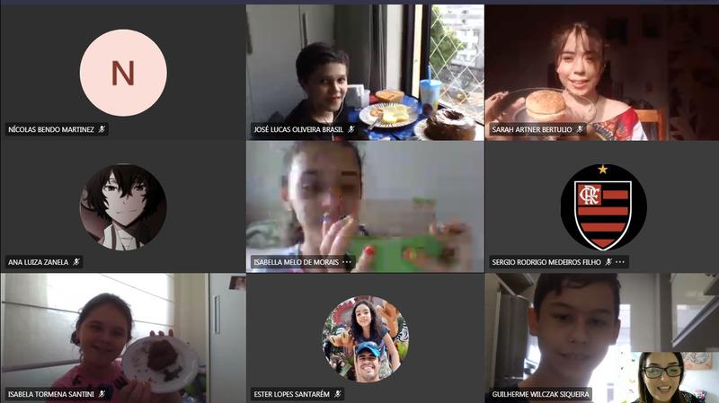 #SagradoEmCasa - Turmas do 6º e 7º ano realizam coquetel virtual para lançar livros digitais produzidos no componente de Língua Inglesa