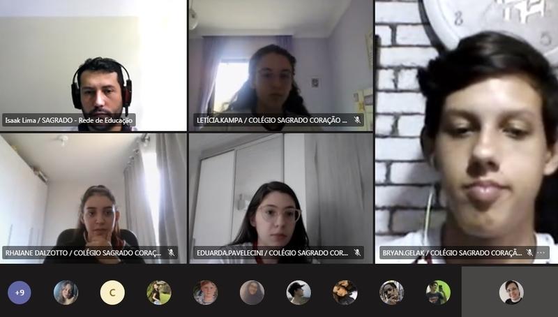 Pastoral Escolar realiza Intervenções on-line para o Ensino Médio com reflexões sobre a importância do diálogo e da interação