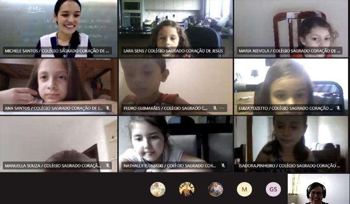 Educandos do Ensino Fundamental – Anos Iniciais celebram a vida da Bem-Aventurada Clélia Merloni durante Intervenções da Pastoral Escolar