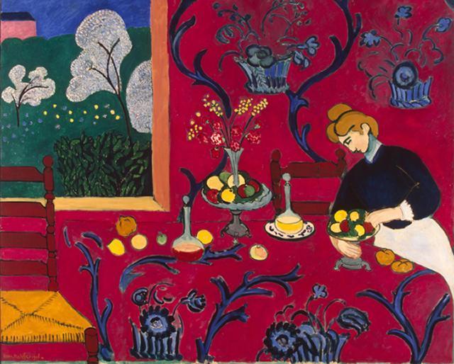 """Crianças realizam releitura do """"Interior Vermelho"""" de Henri Matisse"""