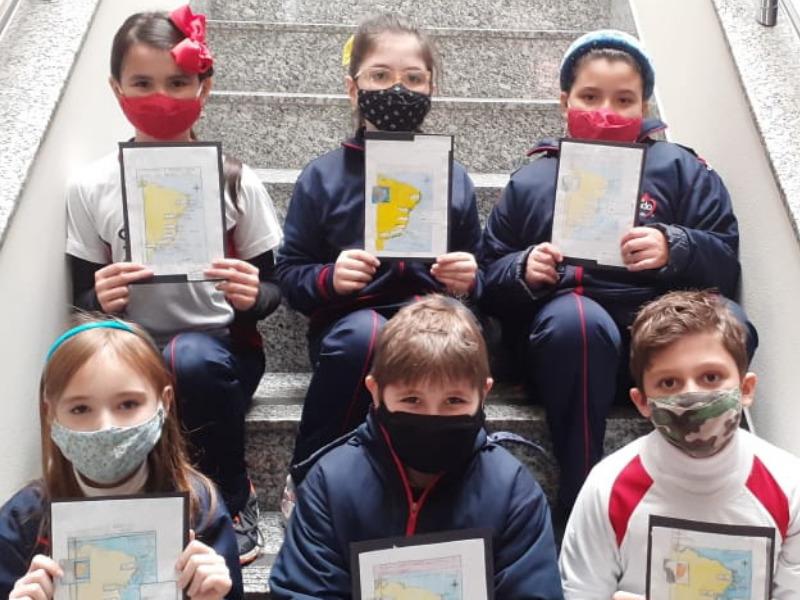 Unindo os objetos de estudo de História e Geografia, educandos do 4º ano reproduzem mapas