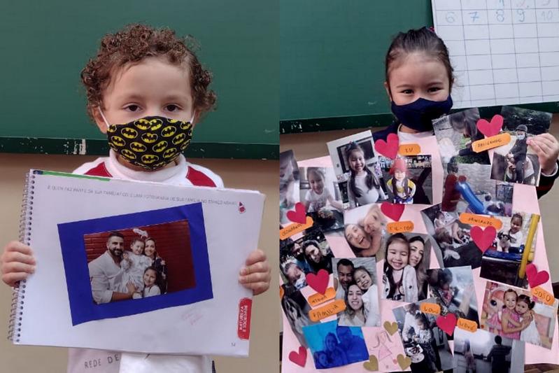 Cultura, costumes e convívio das famílias são temas de aula especial no Infantil IV