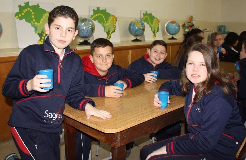 Aula prática 7º ano 3 - Preparação de milkshake