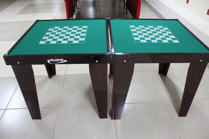 mesas de Dominó, Xadrez e Damas